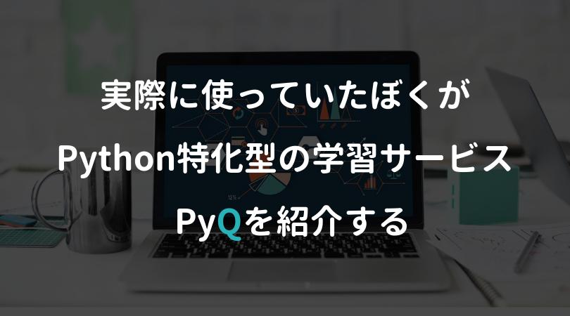 【感想あり】本気でPythonを身に付けたいならPyQを選ぶべき理由