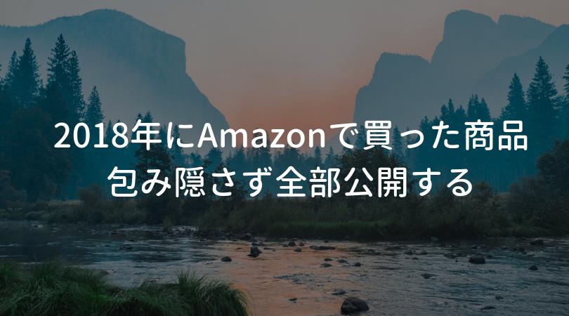 2018年にAmazonで買った商品を全部公開する【恥ずかしい】